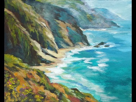 Ocean Vista a How to Paint Water with Acrylic Paints with Ginger Cook for Beginners
