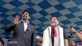 Индийские фанаты установили памятник Марадоне