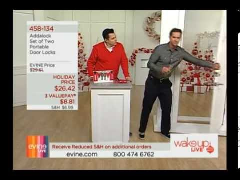 Evine Live On Air Home Product Specialist Guest Host Douglas Sidney AddALock