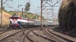 Superfast Express Train with Beautiful LHB Hybrid Coaches Climbing Thull Ghats (Kasara - Igatpuri)