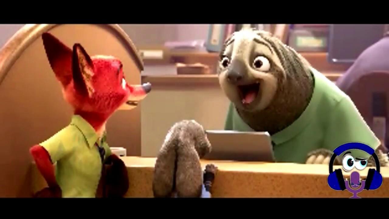 مشهد الكسلان من فيلم Zootopia مدبلج بالمصرية العامية Youtube