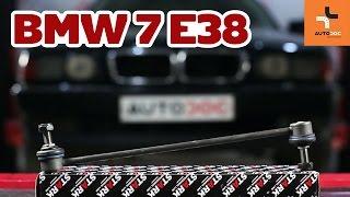 Hvordan bytte foran stabilisatorstag på BMW 7 E38 BRUKSANVISNING | AUTODOC