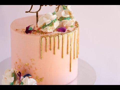 Pink Baby Shower Meringue Cake- Rosie's Dessert Spot