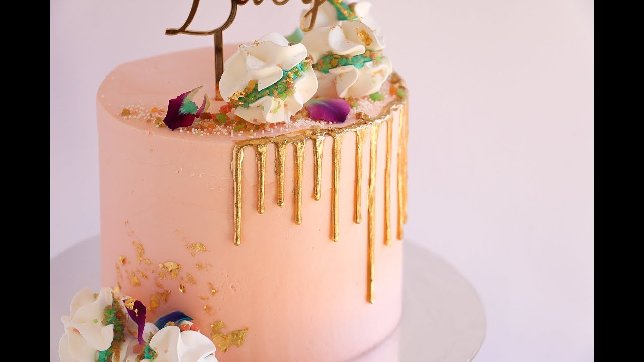 Awesome Pink Baby Shower Meringue Cake  Rosieu0027s Dessert Spot   YouTube