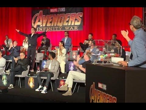 Robert Downey Jr Infinity War  Press Conference Jeff Goldblum Introducing the Cast