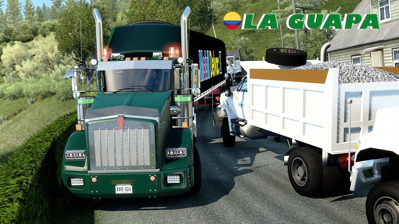 LA GUAPA KENWORTH T800 CAMINOS ESTRECHOS DE COLOMBIA