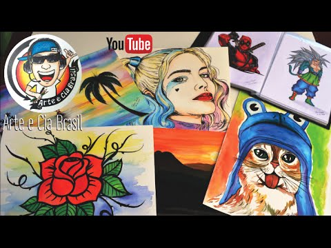 Todos desenhos do Canal ARTE e CIA BRASIL #200K