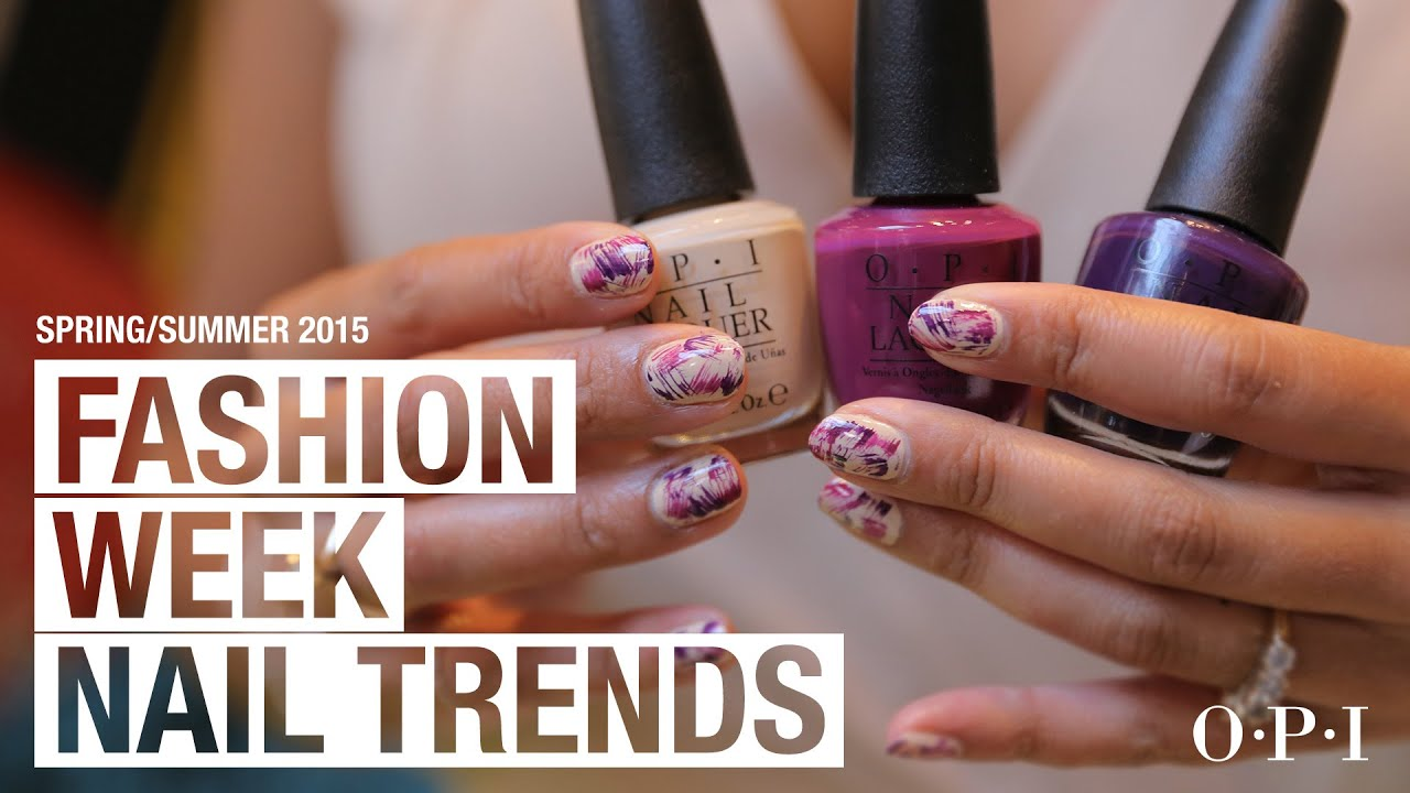 Fashion Week Nail Trend Wrap-up | Spring/Summer 2015 - YouTube
