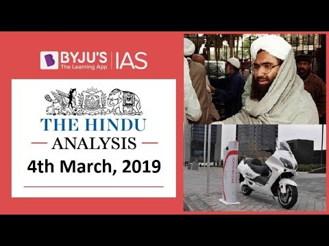 'The Hindu' Analysis for 4th March, 2019. (Current Affairs for UPSC/IAS )
