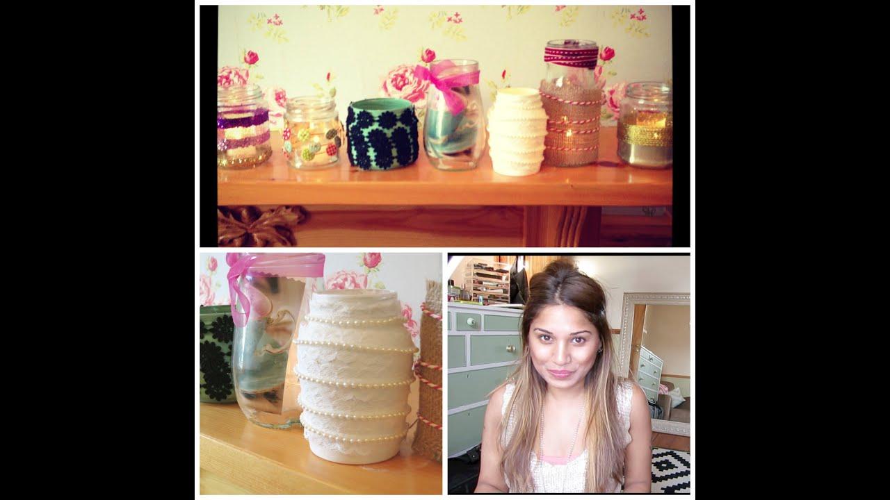 Home Decor | Glass Jars   YouTube