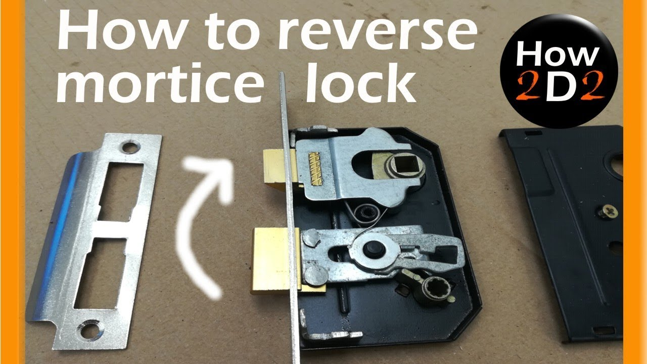 How to reverse bathroom lock Reversing mortice lock - YouTube