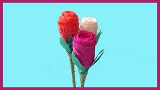 DIY Rose Paper Flowers with Crepe Paper | How to Make Crafts Tutorials