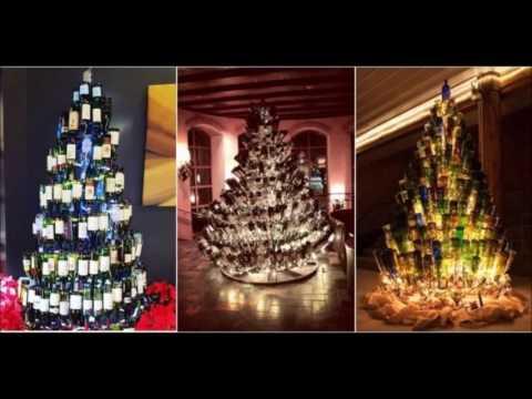 Wine Bottle Christmas Tree Diy.Diy Wine Bottles Christmas Tree