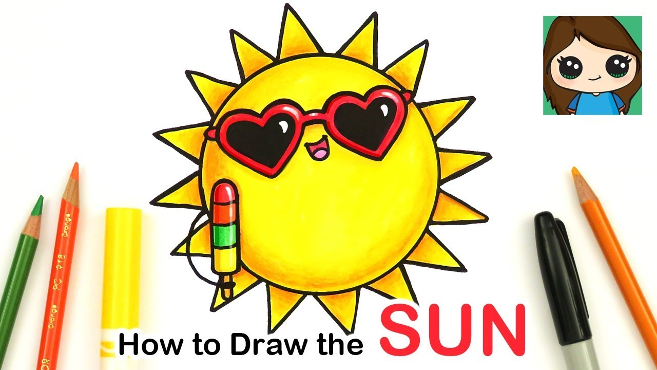 How To Draw The Sun Easy Summer Art Series 1 Youtube