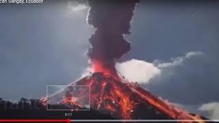 Sangay Volcano: MAJOR ERUPTION to 40000 ft - Volcanic Ash Advisory - Equador
