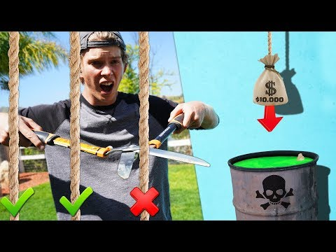 Cut the Wrong Rope, Lose $10,000 - Challenge