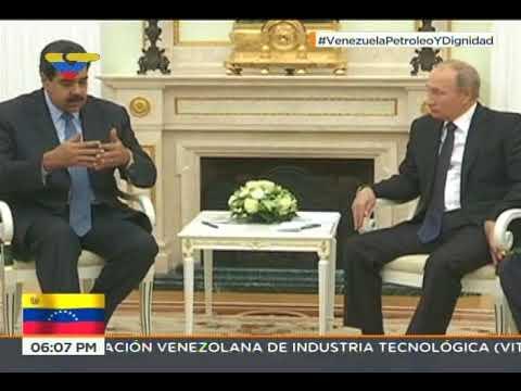 Presidente ruso Vladimir Putin se reúne con el venezolano Nicolás Maduro