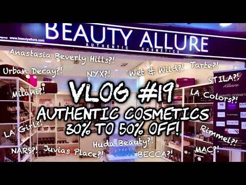 Vlog #19 | Authentic Cosmetics 30%-50% OFF only at Beauty Allure, City Plaza | IkinMan