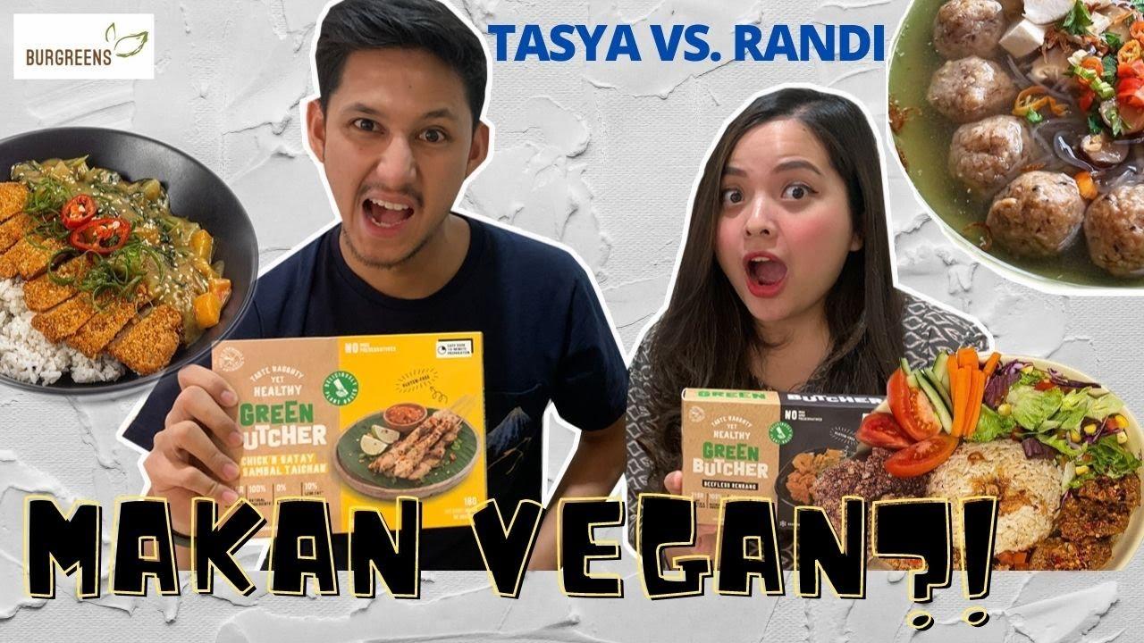 TASYA VS. RANDI: GO VEGAN!! - SIAPA YG MENANG?? #TasyaRandiChallenge