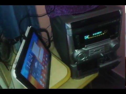 Como Ligar seu celular ou tablet no aparelho som de sua casa e ter um som