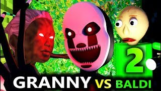 BALDI'S BASICS VS GRANNY 2! Ft. FNAF Nightmarionne (Official) Baldi Minecraft Animation Horror Game