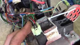 Раскладка фишки коммутатора постоянного тока на Dio 34