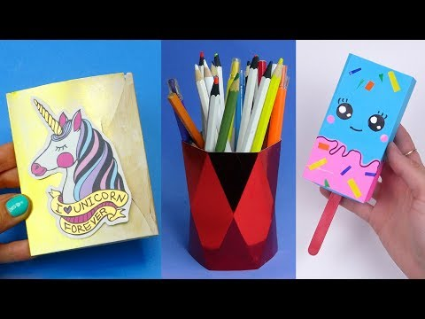 14 DIY School Supplies | Easy DIY Paper crafts ideas