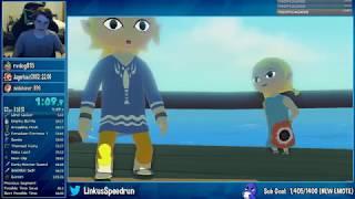 Zelda: The Wind Waker HD Any% Speedrun in 1:00:38
