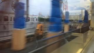 竹ノ塚駅高架化 下り急行線工事 スペーシアからの車窓