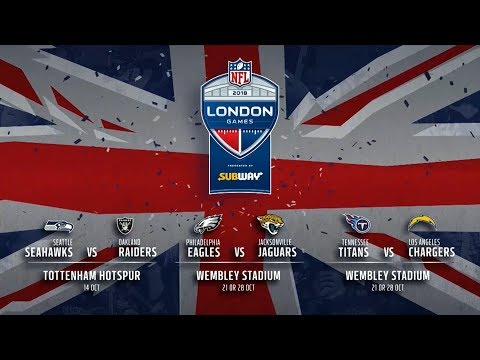 NFL 2018-19 LONDON FIXTURE ANNOUNCEMENT!