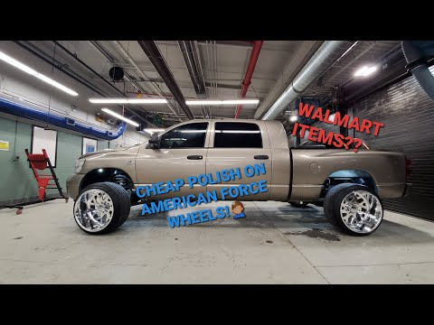 Polishing American Force Wheels with Walmart Items