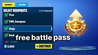 I Gifted The Battle Pass To Random Players on Fortnite