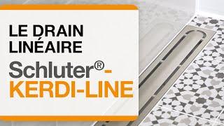 Comment installer le drain linéaire Schluter®-KERDI-LINE.