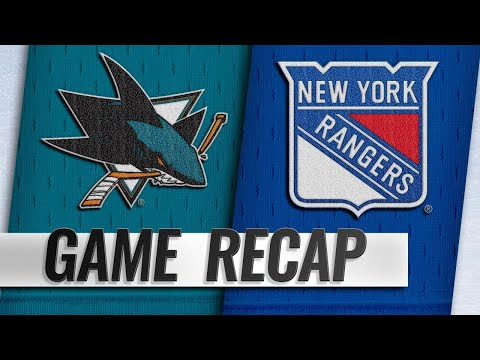 Quinn earns first win as Rangers top Sharks in OT