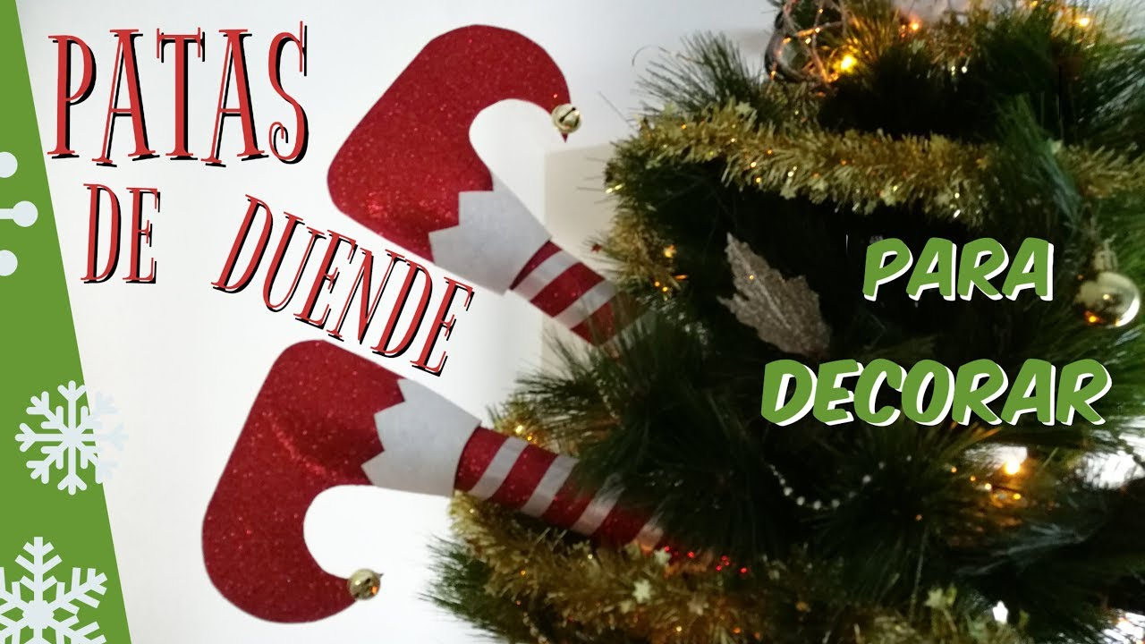 Piernas de duende para decorar rbol de navidad elf legs 2019 christmas ornaments youtube - Cosas de navidad para hacer en casa ...