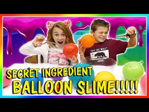 SECRET INGREDIENT BALLOON SLIME | We Are The Davises