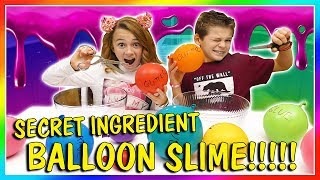 SECRET INGREDIENT BALLOON SLIME | We Are The Davises