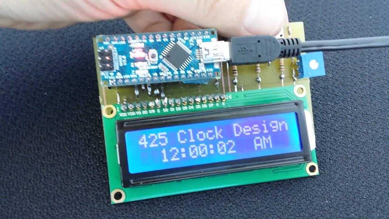 Arduino nanos v digital clock pcb youtube