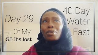 Day 29 of my 40 day water fast. 35 lbs lost
