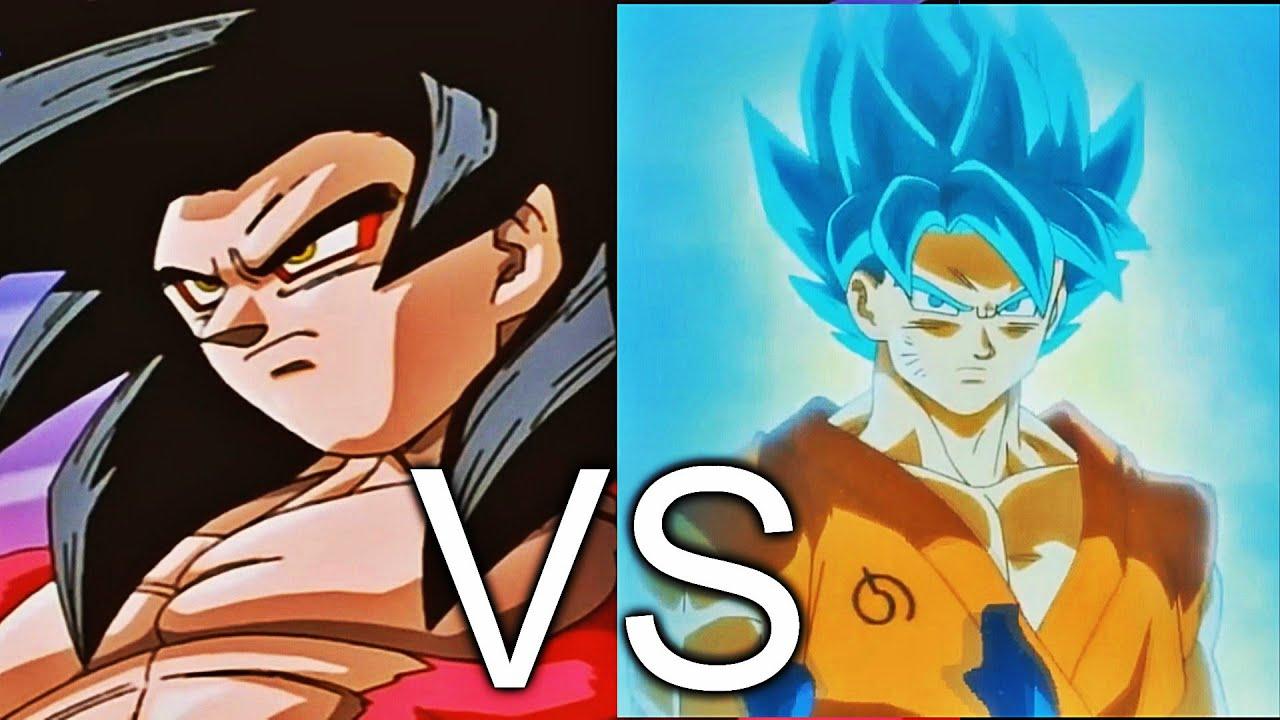 Goku Ssj4 Vs Goku Ssj3: Goku SSJ4 VS Goku SSJ BLUE Transformation
