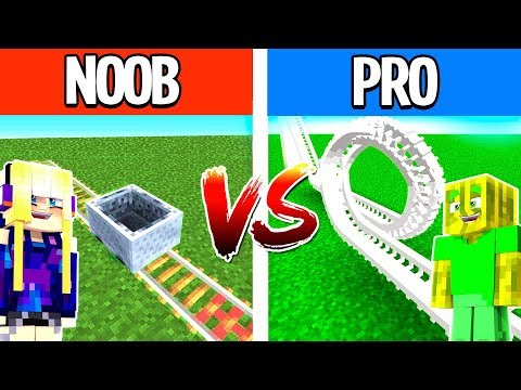 NOOB vs. PRO ACHTERBAHN in MINECRAFT?!