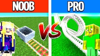 NOOB vs. PRO ACHTERBAHN in MINECRAFT?!