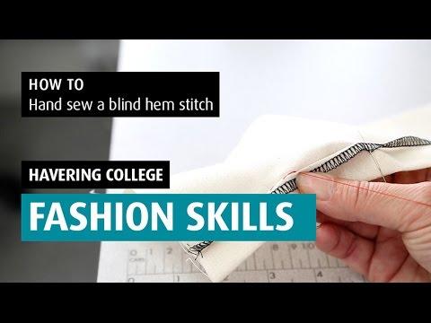 HOW TO: Hand Sew A Blind Hem Stitch
