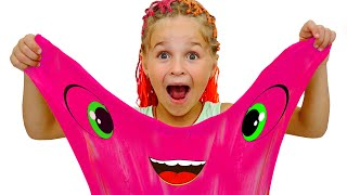 Slime song & Superheroes for Kids - Children Song from Nadia & Luba