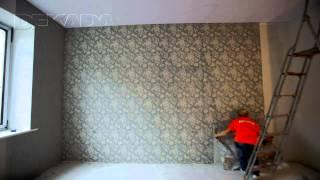 Наклейка обоев с подбором рисунка.(http://www.Pravilny.ru - Ремонт квартир под ключ в Москве. Наклейка обоев на стену. Подбор рисунка обоев., 2013-12-11T12:02:52.000Z)