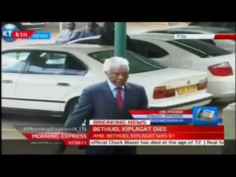 Former TJRC Chairman Amb. Bethuel Kiplagat passes on at Nairobi Hospital
