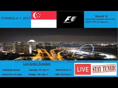 Live Qualifying- 2017 FORMULA 1 SINGAPORE AIRLINES SINGAPORE GRAND PRIX @ Singapore