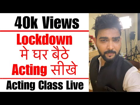 Acting Class Live at Lets Act Actor Studio | Acting Tips in Hindi