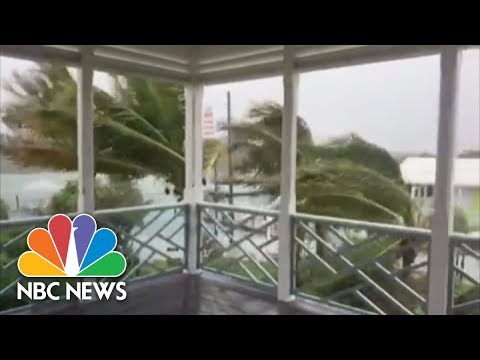 Watch Hurricane Dorian Creep Over The Bahamas As 'Catastrophic' Category 5   NBC News