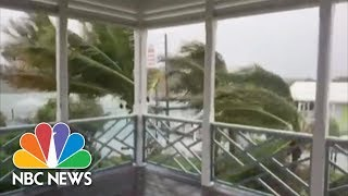 Watch Hurricane Dorian Creep Over The Bahamas As 'Catastrophic' Category 5 | NBC News